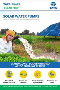 1hp Ac Submersible Solar Water Pump By Tata Power Solar