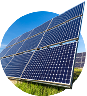 Solar energy can be used for photovoltaic power (eg. a solar cells).