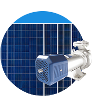 Solar energy can be used for potable water or Irrigation (e.g. solar water pumps).