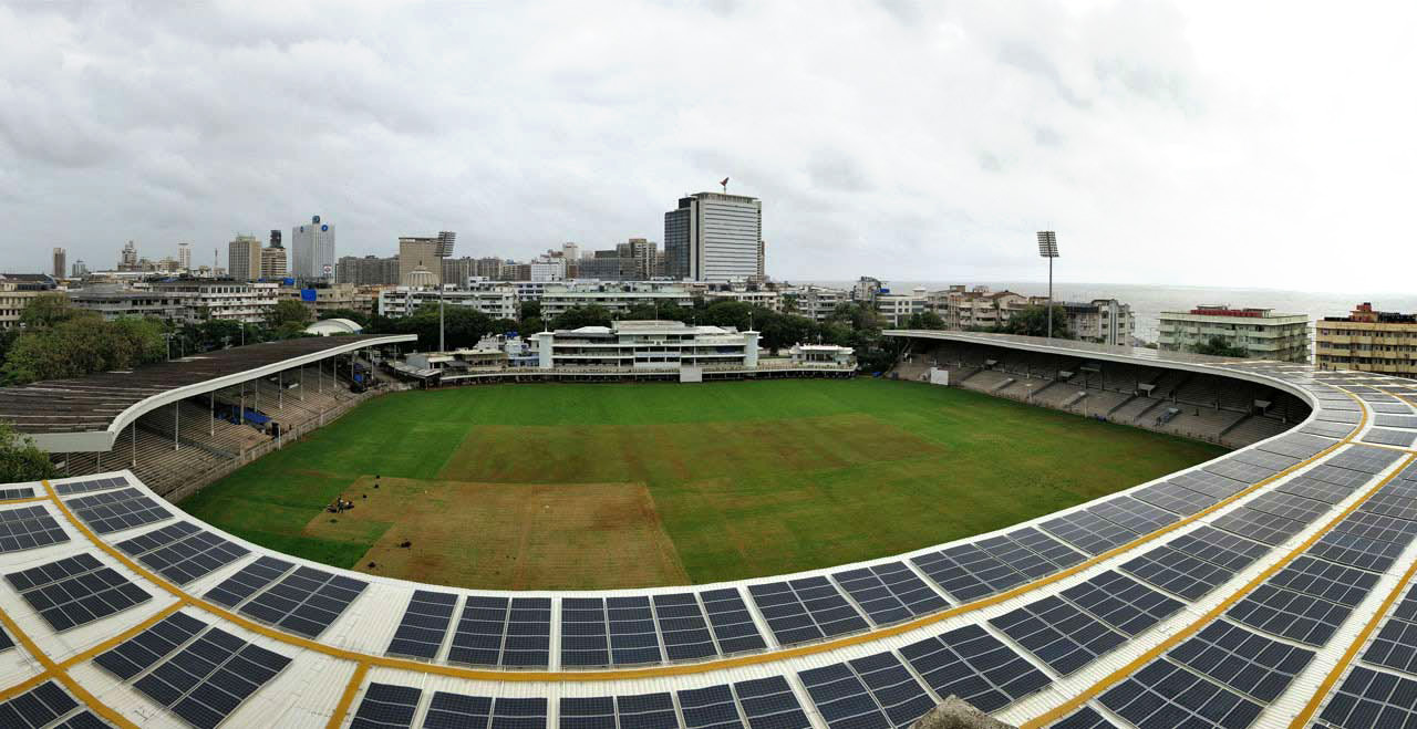 Cricket Club of India, Mumbai, World's Largest Solar Powered Cricket Stadium